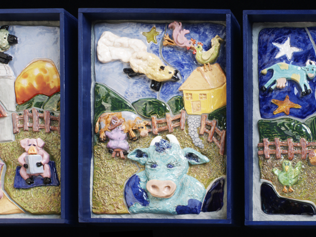 Fantastical Farm Triptych for the Boston Children's Hospital
